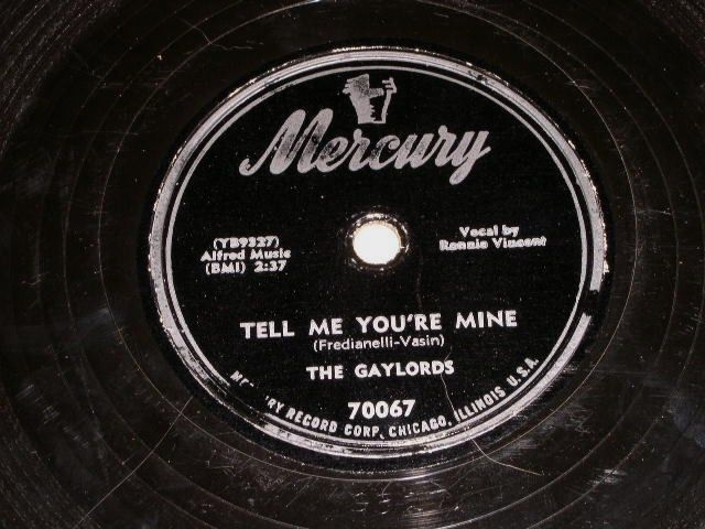 Primary image for The Gaylords Aye Aye Aye 78 rpm record vintage Mercury Records
