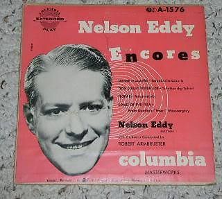 Primary image for Nelson Eddy Phonograph Record EP With Cover