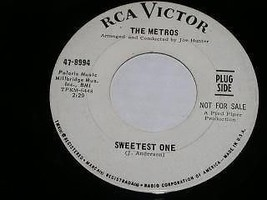 The Metros Northern Sweetest One Soul 45 Rpm Record Promotional - $49.99