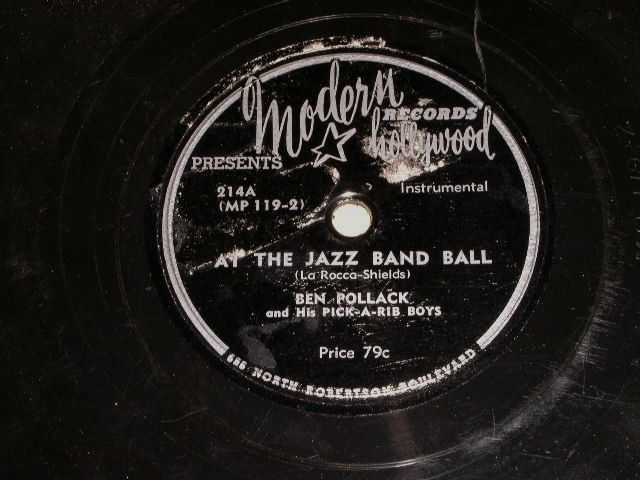 Primary image for Ben Pollack Pick A Rib Boys At The Jazz Band Ball 78 Rpm Record Vintage Jazz