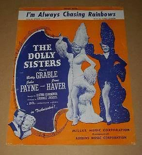 Primary image for The Dolly Sisters Sheet Music Vintage Betty Grable