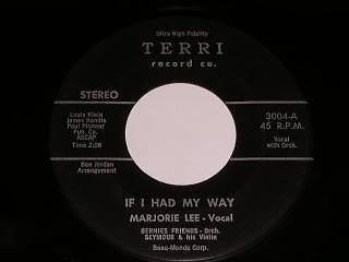 Primary image for Marjorie Lee If I Had My Way 45 RPM Terri Label