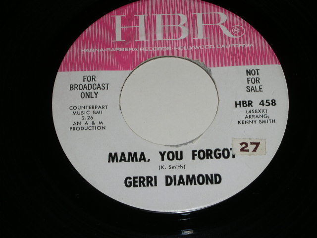 Primary image for Gerri Diamond Give Up On Love 45 Rpm Record Vintage HBR Label Promotional