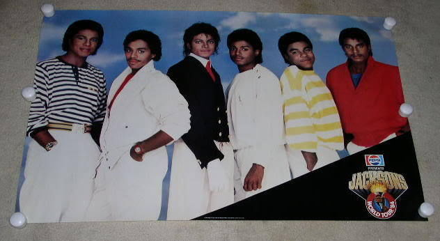 Primary image for THE JACKSONS CONCERT TOUR POSTER VINTAGE 1984