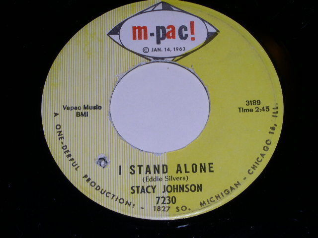Primary image for Stacy Johnson I Stand Alone 45 Rpm Record Vintage M Pac Label