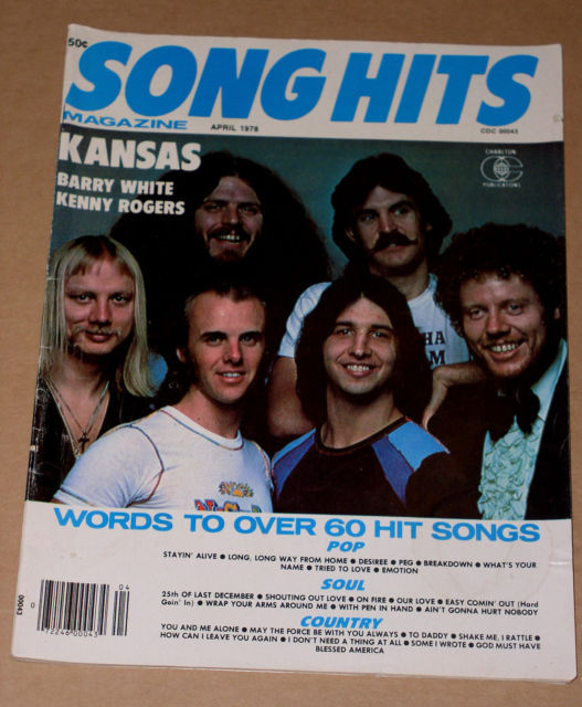 Primary image for Kansas Song Hits Magazine Vintage 1978