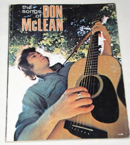 Primary image for DON MCLEAN SONGBOOK VINTAGE 1972, RARE