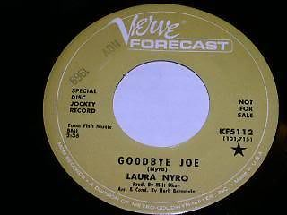 Primary image for Laura Nyro Goodbye Joe 45 Rpm Record Verve