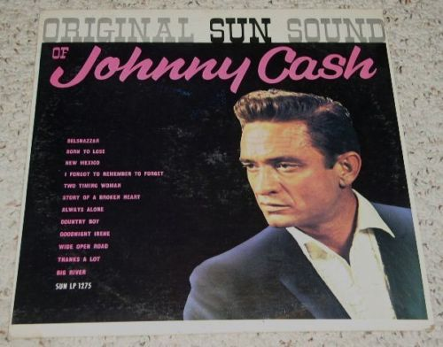 Primary image for Johnny Cash Vintage Phonograph Album Sun Records, Rare