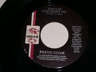 Primary image for Pattie Keith Only If You Want To 45 Rpm Record