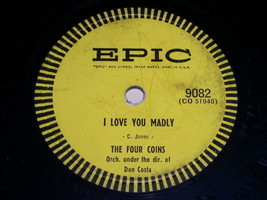 Four Coins Maybe 78 rpm record vintage Epic Records - $34.99