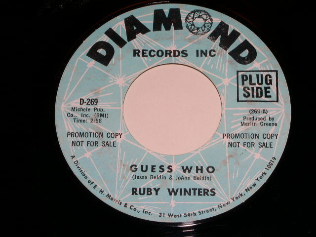 Primary image for Ruby Winters Guess Who 45 Rpm Record Vintage Diamond Label Promotional