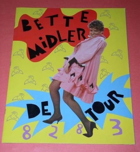 Primary image for Bette Midler Concert Tour Program Vintage 1983 De Tour