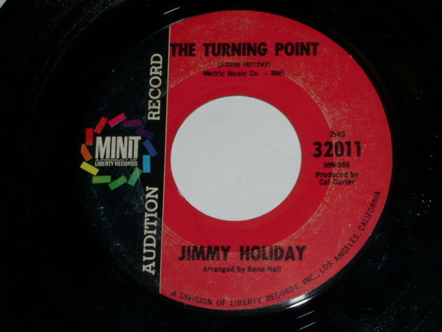 Primary image for Jimmy Holiday The Turning Point 45 Rpm Minit Label Audition I'm Gonna Move Bside