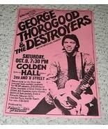 George Thorogood Concert Promo Poster San Diego 1980's - $99.99