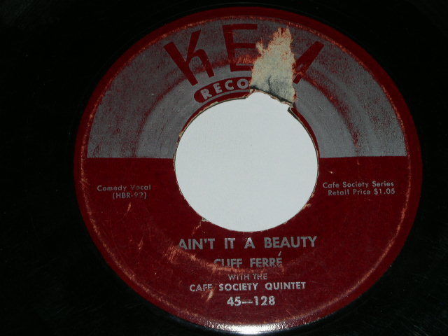 Primary image for Cliff Ferre Aint It A Beauty 45 Rpm Record Kem Label
