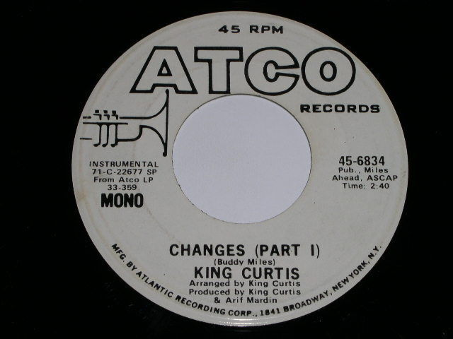 Primary image for King Curtis Changes 45 Rpm Promotional Phonograph Record Atco