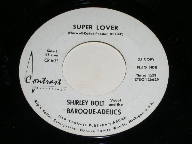 Primary image for Shirley Bolt Baroque Adelics Super Lover 45 Rpm Record Contrast