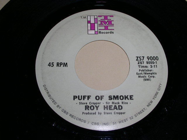 Primary image for ROY HEAD PUFF OF SMOKE 45 RPM PHONOGRAPH RECORD