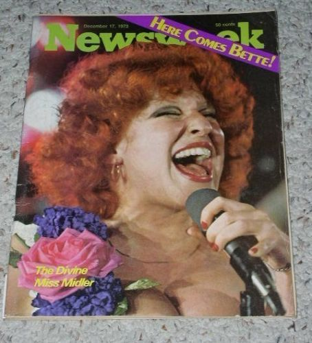 Primary image for Bette Midler Newsweek Magazine Vintage 1973