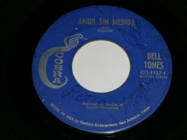 Primary image for Dell Tones Love Without Measure 45 Rpm Record Cobra Label Spanish Series
