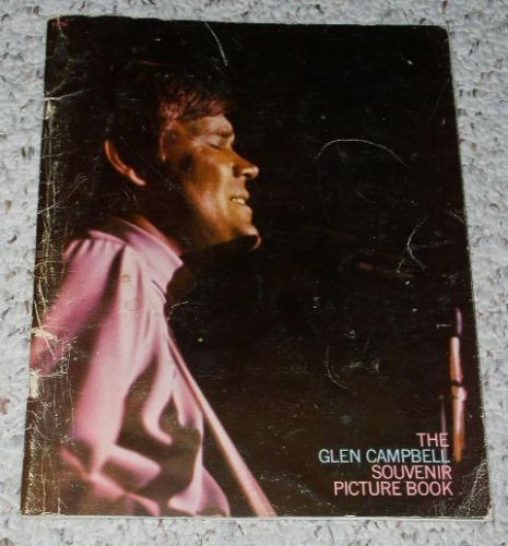 Primary image for Glen Campbell Souvenir Picture Book Vintage 1970