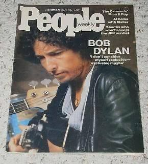 Primary image for Bob Dylan People Weekly Magazine Vintage 1975
