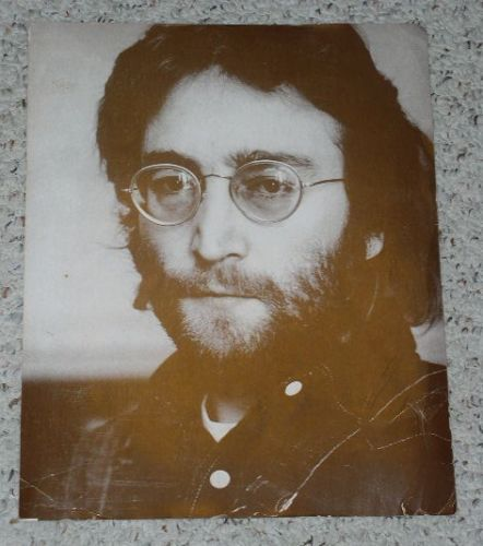 Primary image for John Lennon Poster Vintage Sepia Tone Photo Picture
