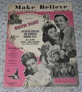 Primary image for Show Boat Sheet Music Vintage Make Believe Howard Keel