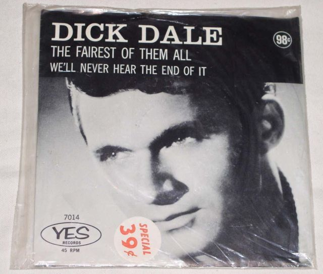 Primary image for DICK DALE FAIREST OF THEM ALL SURF 45 RPM RECORD YES RECORDS