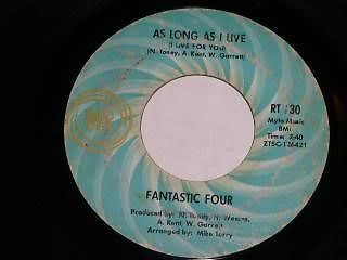 Primary image for Fantastic Four To Shape Your Love 45 Rpm Record Ric Tic Label