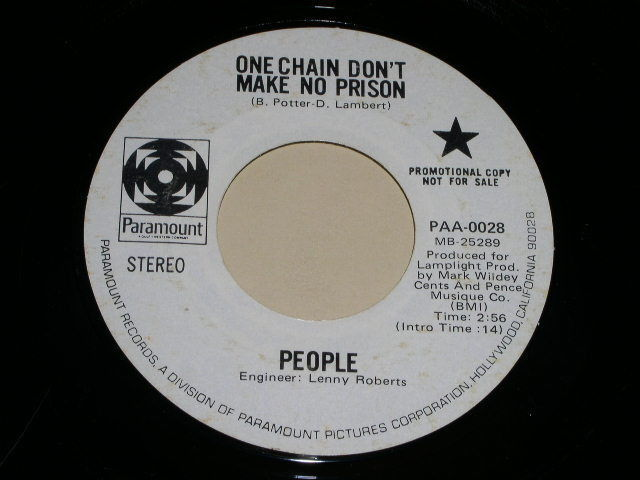 Primary image for People One Chain Don't Make No Prison 45 Rpm Promotional Phonograph Record