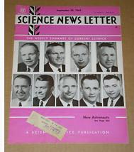 Neil Armstrong Science News Letter Vintage September 29, 1962 - $34.99