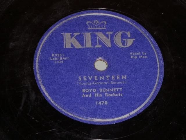 Primary image for Boyd Bennett Rockets Seventeen 78 rpm record vintage King Records