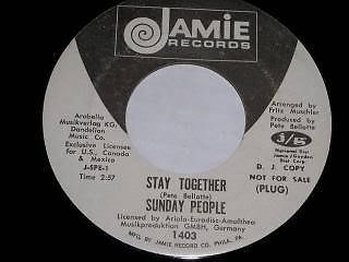 Primary image for Sunday People Stay Together 45 Rpm Record Jamie Label