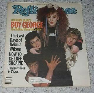 Primary image for Boy George Rolling Stone Magazine 1984 Culture Club