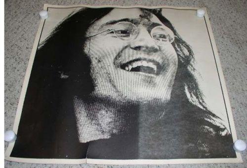 John Lennon Beatles Poster Black White Vintage