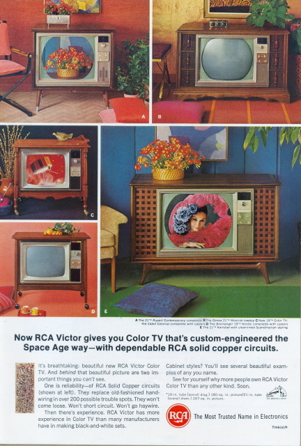 1966 RCA Victor copper circuits TV Television ptinr ad
