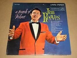 Jim Reeves Touch Of Velvet Record Album 1962 RCA Label - $34.99