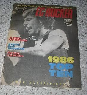 Primary image for Bruce Springsteen East Coast Rocker Magazine 1986