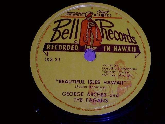 Primary image for George Archer Beautiful Isles Hawaii 78 Rpm Vintage Hawaiian