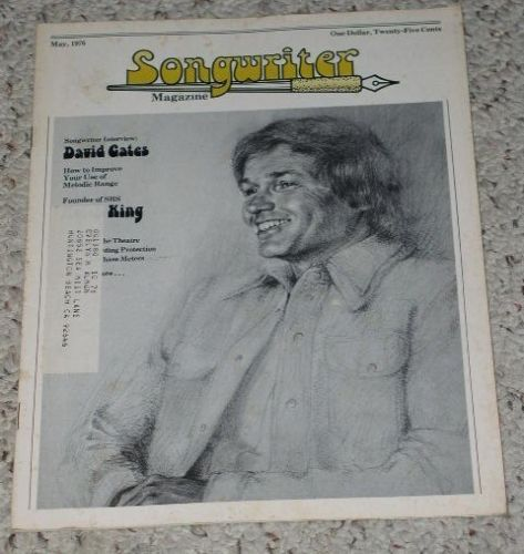 Primary image for David Gates Songwriter Magazine Vintage 1976