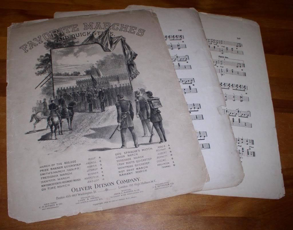 Primary image for FAVORITE MARCHES VINTAGE SHEET MUSIC 1882 OLIVER DITSON