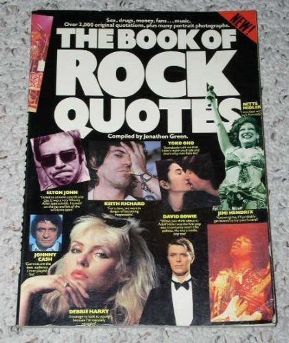 Primary image for Book Of Rock Quotes Softbound Book Vintage 1982 Omnibus