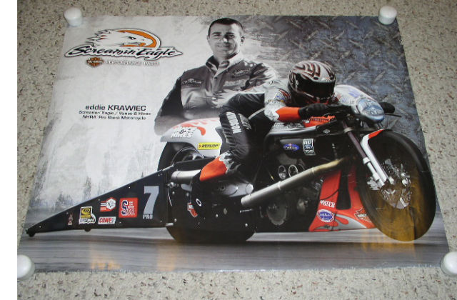Primary image for Eddie Krawiec Harley Davidson Poster Vintage Screamin Eagle