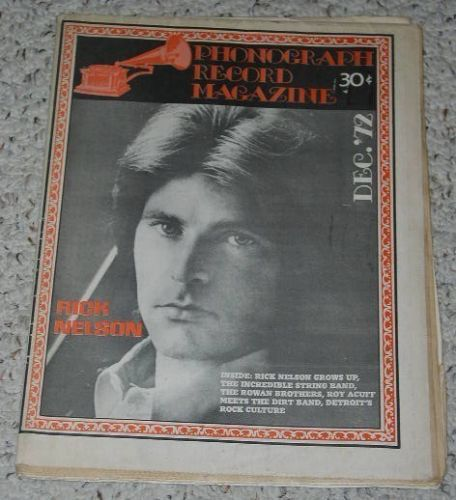 Primary image for Rick Nelson Phonograph Record Magazine Vintage 1972