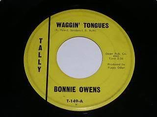 Primary image for Bonnie Owens Waggin Tongues 45 Rpm Phonograph Record Vintage Tally