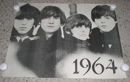 Beatles Poster Vintage Black White Origin Unknown