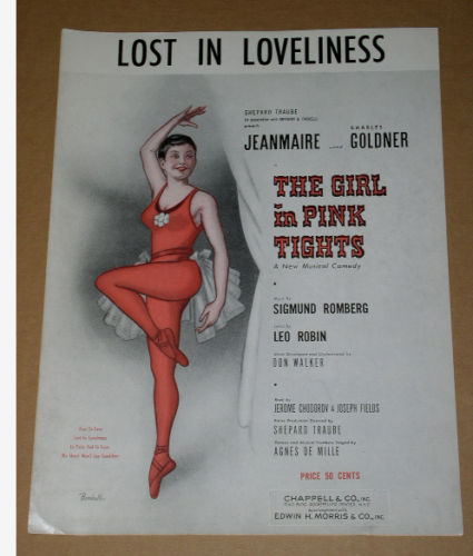 Primary image for The Girl In Pink Tights Lost In Loveliness Sheet Music Vintage 1954