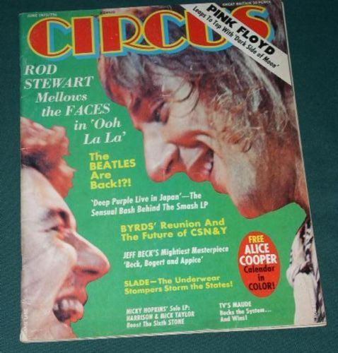Primary image for ROD STEWART VINTAGE CIRCUS MAGAZINE 1973 PINK FLOYD